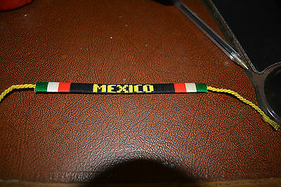 World Cup 2018   Mexico Y&b   Handwoven Wristband