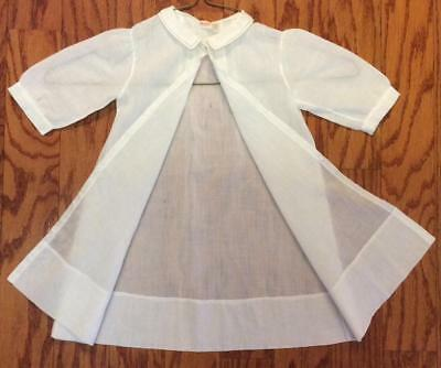 Antique Cotton linen Embroidered Dress night gown light coat baby doll 5 mth