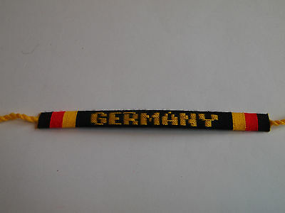 2018 World Cup   Germany   Handwoven Wristband