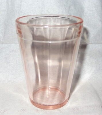 "Old Vintage Hazel Atlas Antique Pink Depression Glass Juice Tumbler  3 1/4"" Tall"