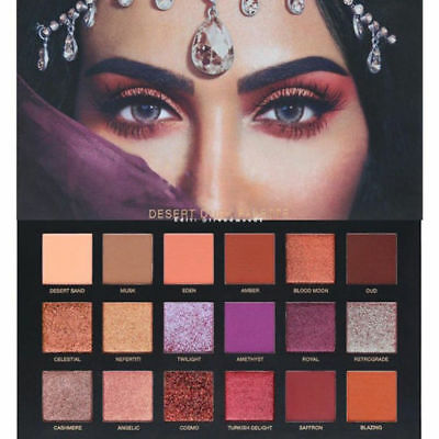 NEW Huda Beauty Desert Dusk Edition Textured Eye Shadows Palette 18 Colours UK