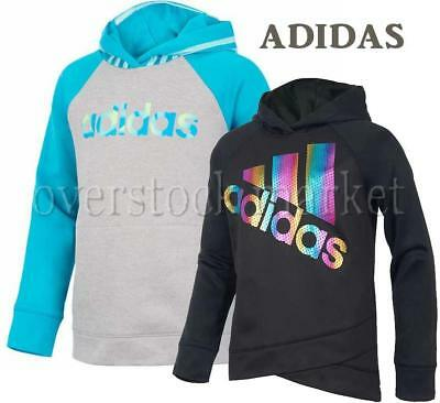 New Adidas Youth Girls Tech Fleece Pullover Hoodie! Variety Colors/sizes