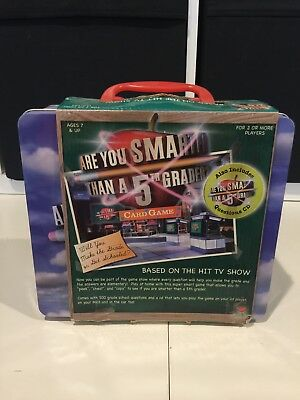 2007 Are You Smarter Than A 5th Grader Card Game, Cardinal, New In Box