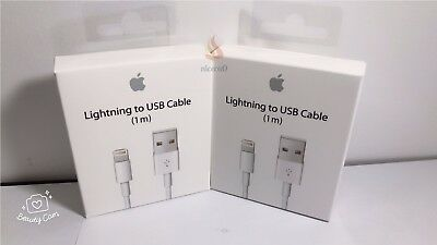 2x Genuine Original Apple Lightning to USB Charger Cable for iPhone 6s/Plus/5/S