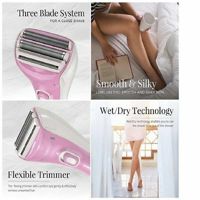 Rechargeable Cordless Electric Shaver Razor for Women Dry Wet Remover Hair Leg