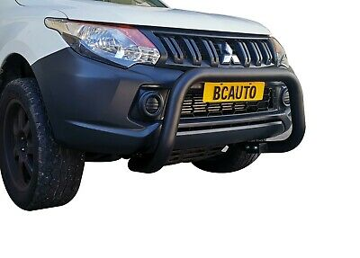Black Bullbar Nudge Bar Grille Bumper Guard for Mitsubishi Triton MQ 15-18 G