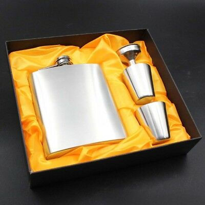 7oz Portable Stainless Steel Whiskey Wine Pot Bottle Durable Flagon Hip Flask