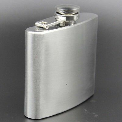 Solid Stainless Steel 7/8/9/10/18oz Hip Flask Flagon Wine Whisky Bottle Wine Pot