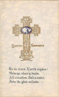 Postcard Easter Thoughts He Is Risen Earth Rejoice Vintage Unposted PC