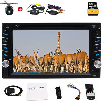 "6.2 ""HD Touchscreen Double Din Bluetooth Stereo GPS Car Radio DVD Player Camera"