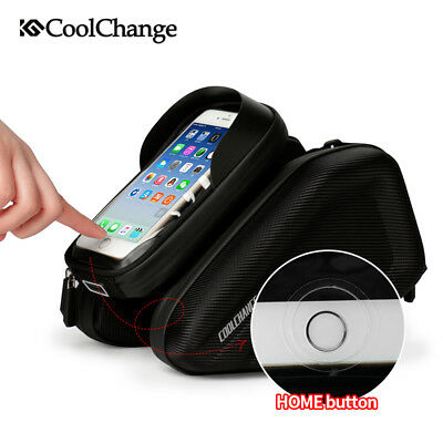 Cycling Bike Bicycle Front Frame Tube Bag Handlebar Cell Phone Holder Pouch Bag