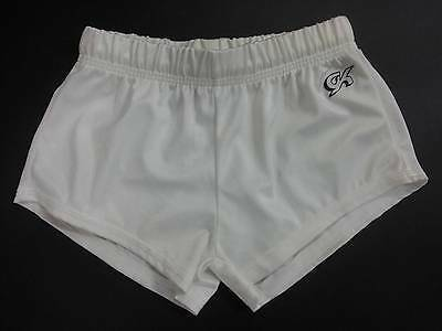 Gk Boys And Mens Gymnastic Shorts - White - Size Child Small - Adult X Large