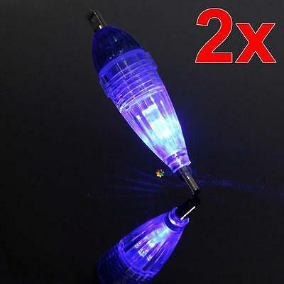 2pcs MINI LED Deep Drop Underwater Fishing Squid Lure Lights Blue Flashing RR RR