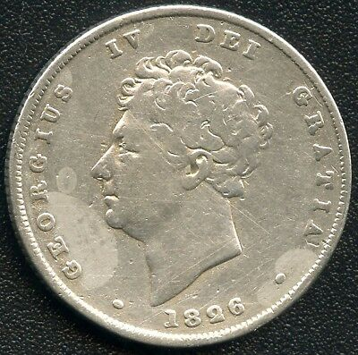 1826 Great Britain 1 Shilling Silver Coin ( 5.6552 Grams .925 )
