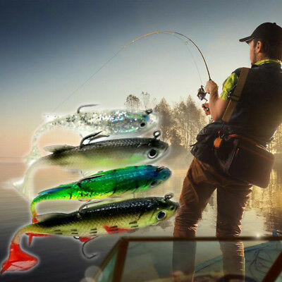 Top 5pcs Lead Fishing Lure Bait Soft Baits Lures Tackle With Sharp Hook 8cm 14g