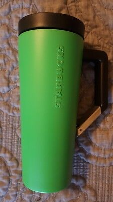 NEW 16 oz Starbucks Green Stainless Steel double wall tumbler w/smart clip