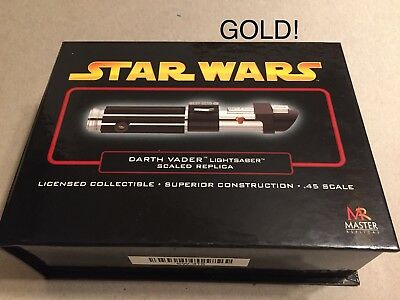 Master Replicas Star Wars Gold .45 Scaled Lightsaber SW-316 Darth Vader ROTS