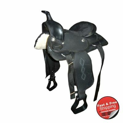 Black- Synthetic Western Saddle
