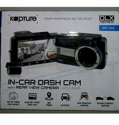 Kapture KPT-942 DLX Series In-Car Dash Cam with Rear View Camera GPS ADAS
