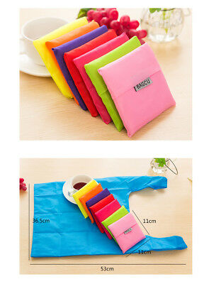 Shopping grocery bag foldable Pouch can carry up to 20kg plain colour