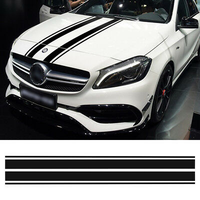 Edition 1 Bonnet Stripes Hood Decal Stickers for Mercedes Benz A C CLA 45 W204/5