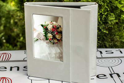 Luxury Wedding Cd/ Dvd Case With Front Slip-In Photo - Hold 2 Disc
