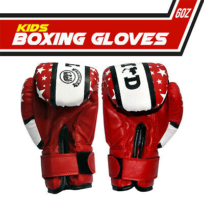 Thai Mad Leather Boxing 6oz Gloves Fight Punch Bag MMA Muay thai Gloves