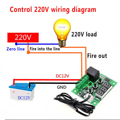 Digital Display High Precision Temperature Controller Module Practical Exact