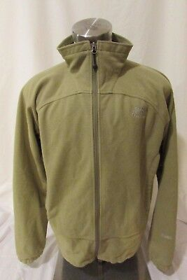 The North Face Jacket Men's Large Windwall Fleece Zipper Color Green