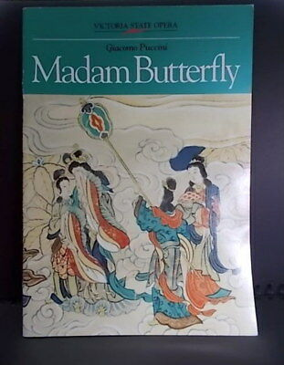 ❌❌❌ MADAM BUTTERFLY  : Victoria  State Opera 1991 ;  Program
