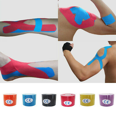 1 Roll Kinesiology Muscle Tape Sports Athletic Elastic Physio 2.5cmX5cm 2017.