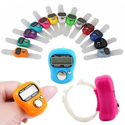 5x Electronic Row Counter Finger Ring Golf Digit Stitch Marker LCD Tally Counter