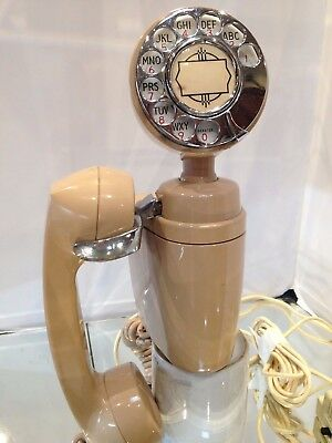 Vintage/Retro,50's space age,Swivel Head Style Wall Telephone,cream color in EC