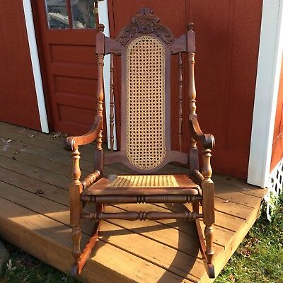lion head rocking chair with arms 1900 1950 chairs furniture antiques picclick