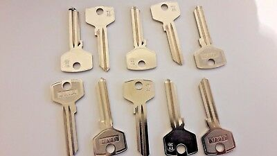 10 X  Tv-3D Jma/tr4 Silca/ Ilco To6 /trio Ving Key Blanks