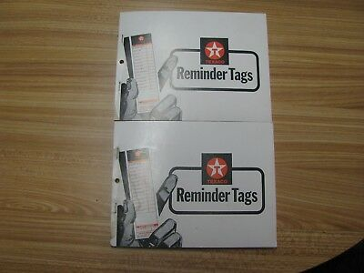 2 Books Of Texaco Oil Change Reminder Tags (100 Tags Per Book)