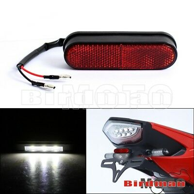 Plastic Red Reflector 3 LED Rear License Plate Number Plate Light Lamp Universal
