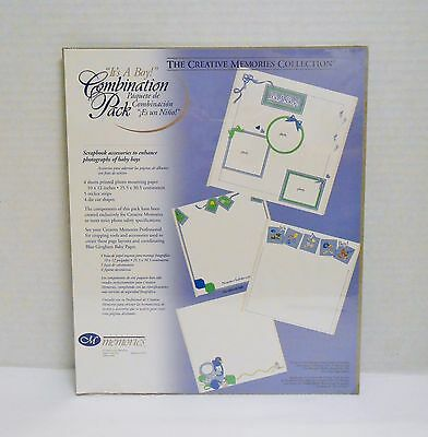 """Creative Memories """"IT'S A BOY"""" Combination Pack 10 x 12 Paper, Stickers,More NIP"""