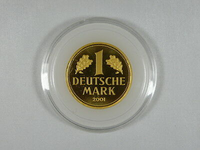 1 Deutsche Mark Goldmünze 2001 Goldmark Dm Deutsche Bundesbank D / 999,9 Gold