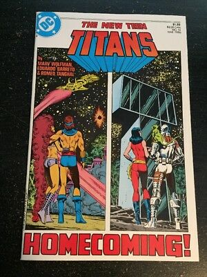 "New Teen Titans#18 Incredible Condition 9.2(1986)""Homecoming""Barreto Art!!"