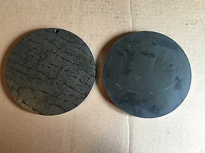 (2)pc. 1/2 INCH X 6 5/8 INCH ROUND/DISC STEEL PLATES A36 GRADE
