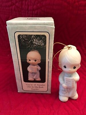 Enesco 1995 Precious Moments You're A Number One In My Book Teacher Ornament