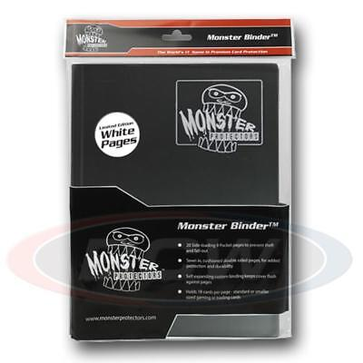 9 Pocket Monster Protector Binder - Black With White Pages