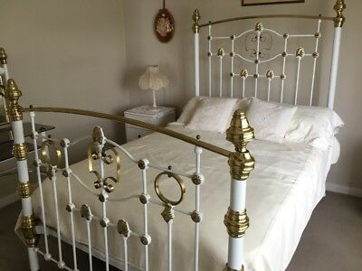 Antique Original  Brass & Iron Whitt Bed