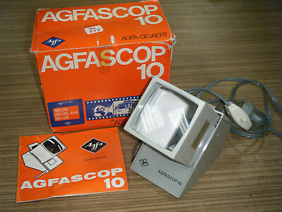 Vintage Boxed Agfa Agfascop 10 Electric Slide Viewer