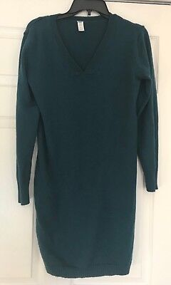 Old Navy Maternity Sweater Dress, Teal, Size Medium