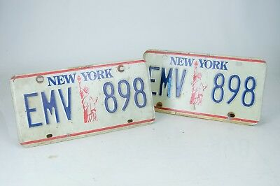 "Pair of New York ""Statue of Liberty"" License Plates Great Shape 2000's"