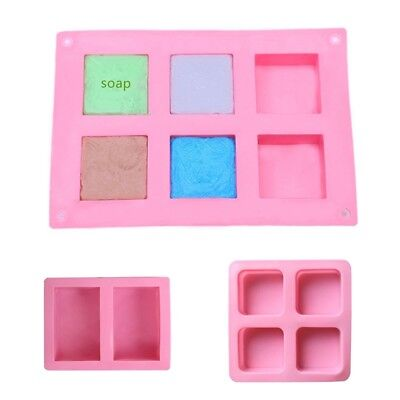 Silicone Soap Mold 2/4/6 Grids Design Baking Tool Safety Home Handmade Mould
