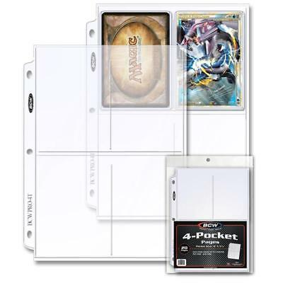 (20) Bcw Pro 4-Pocket Photo Pages (20 Ct. Pack)