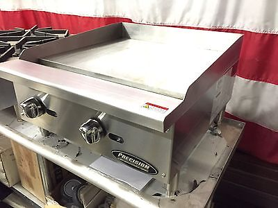 "New 24"" Flat Griddle Grill Commercial Restaurant Heavy Duty Nat Or Lp Gas"